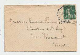 Lettre , 1911 , CHANTONNAY , VOUVANT , 3 Scans - Storia Postale