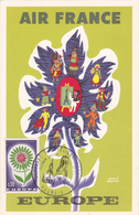 Carte-Maximum FRANCE N° Yvert 1431 (EUROPA) Obl Sp Ill 1er Jour Roubaix (Ed Air France) - 1960-69