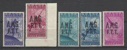 1947 Italia Italy Trieste A  AEREA RADIO 6L, 10L, 25L, 35L, 50L MNH** - 7. Trieste