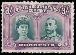 RHODESIA 1910 3/- CLANDESTINE ROULETTE VF/UM - Ohne Zuordnung