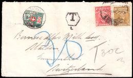 RHODESIA 1923 TAXED LETTER TO SWITZERLAND - Grossbritannien (alte Kolonien Und Herrschaften)