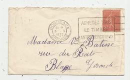 Lettre , 1932 , BORDEAUX , Flamme : Achetez Tous Le Timbre Antituberculeux - Postmark Collection (Covers)