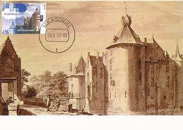 D33119 CARTE MAXIMUM CARD RR FD 2017 NETHERLANDS - CASTLE AMMERSOYEN CHATEAU - PENCIL AND INK - EUROPA CEPT CP ORIGINAL - Castles
