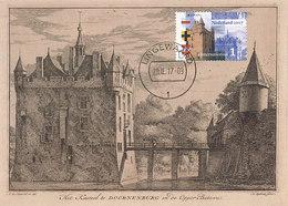 D33120 CARTE MAXIMUM CARD RR FD 2017 NETHERLANDS - CASTLE DOORNENBURG CHATEAU - ETCHING - EUROPA CEPT CP ORIGINAL - Castles
