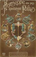 - Themes - Ref-A448- Guerre 1914-18- Patriotique - Horoscope De Nos Poilus - Obus De 75 - Zodiaque - Astrologie - - Patriotiques
