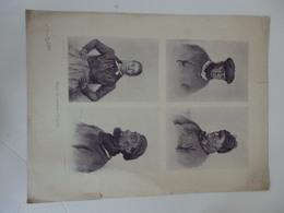 Gravure 34 Cm/45 Cm Types De Matelots Au Tréport (76) D'aprés Louis Emila Avan 1893 Imprimerie Draeger Et Lesieur Paris. - Other