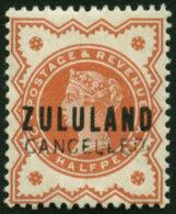 ZULULAND 1888 ½D D DE LA RUE GB14 SPECIMEN, RARE - Zululand (1888-1902)