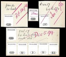 ZULULAND 1894 QV DAY BOOK DIE PROOF SET, MAGNIFICENT, RARE - Zululand (1888-1902)