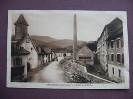 CPA 68 OBERBRUCK Vallée De La Doller SEPIA RARE PLAN  ? Intérieur Village Cheminée D'usine Manufacture Canton MASEVAUX - Frankrijk