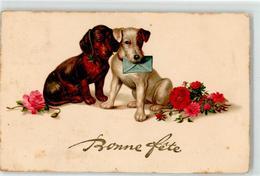 52410873 - Terrier Blumen Brief - Honden