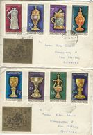 Goldsmiths`Craft. Hungary.  2 Covers Sent To Denmark.  # 425 # - Arts