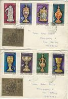 Goldsmiths`Craft. Hungary.  2 Covers Sent To Denmark.  # 425 # - Art