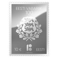 ESTONIA ESTLAND ESTONIE 2018 100 Th Anniversary Of Independce Silver 10 EURO 1v In Capsule - Estonia