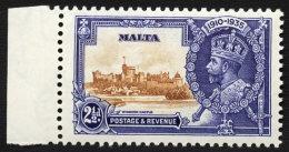 MALTA 1935 SILVER JUBILEE 2½D EXTRA FLAGSTAFF M - Malte (...-1964)