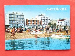 Cartolina Cattolica - Albergi E Spiaggia Visti Dal Mare - 1970 - Rimini