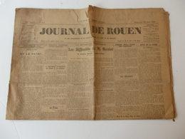 Journal De Rouen. Au Dos Grande Publicité De L'anis Berger. - Non Classés