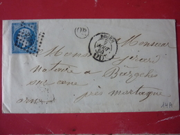 27.03.18_ LAC  ,OR De La Muette Pres De Rouen ,superbe Variété Sur N°14 ,BDF,texte,cachet Perlé Verso - Postmark Collection (Covers)