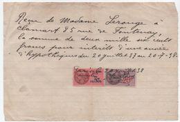Quittance D'intérêts D'hypothéques  /Reçu/Timbre Fiscal 2 Francs Et 20  C/ CLAMART/ 1938                         QUIT3 - Unclassified