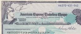 US DOLLAR TRAVELERS CHEQUE   50 - Chèques & Chèques De Voyage