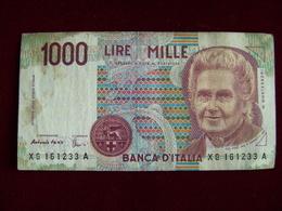 LIRE 1000 MONTESSORI SERIE XG SOSTITUTIVA   COME DA FOTO - [ 2] 1946-… : Républic