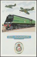 British Railways Battle Of Britain Class No 34071 '601 Squadron' - Dalkeith Postcard - Trains