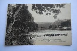 CPA 25 DOUBS BESANCON MICAUD. Besançon, Le Doubs à Micaud. La Citadelle. - Besancon