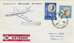 URSS - Aviation - Premier Service Caravelle Air France - Moscou - Paris 1960 - Marcophilie - EMA (Empreintes Machines)