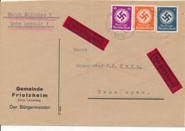 FRIOLZHEIM -   , Bürgermeister   -  Express Nach Renningen  -  Big Letter, Dispatch = 4,20 EURO - Officials