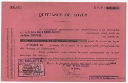 Quittance De Loyer /Reçu/Timbre Fiscal 1,20 Franc / Boulogne-Billancourt/ 1942                        QUIT6 - Unclassified