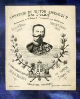 Chromo Devinette Illusion Victor Emmanuel II Humbert Italia 1878 Perroux Card - Autres