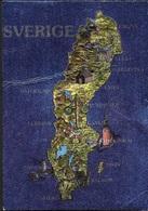 SVEZIA - MAPPA - CARTOLINA CROMATICA -VIAGGIATA 1991 FRANCOBOLLO ASPORTATO - Altri