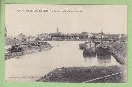 SAINT JEAN DE LOSNE : Vue Sur La Saône Et Losne.  Péniche Et Barge. St. 2 Scans. Edition Blanchot - Other Municipalities