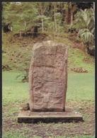 GUATEMALA - CIPPO -VIAGGIATA 1990 FRANCOBOLLO ASPORTATO - Guatemala