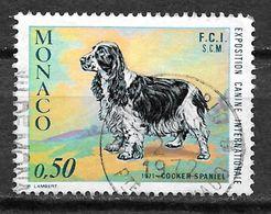 MONACO 862 Oblitéré Exposition Canine Internationale Chien Cocker Spaniel - Usati
