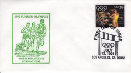 UNITED STATES  - 1991  SUMMER OLYMPIC GAMES SET OF 5 COVERS   FDC4598SPI - 1991-2000