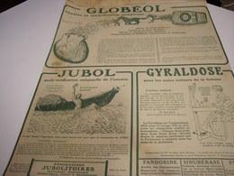 ANCIENNE PUBLICITE GLOBEOL TRANSFUSION SANGUINE  1919 - Publicité