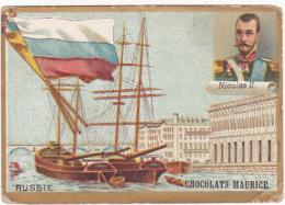 Chromo - Chocolats Maurice - Russie - Nicolas II - Chocolat