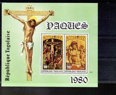 TOGO BLOC 138** SUR DES TABLEAUX DE GRECO ET CRIVELLI POUR PAQUES 1980 - Togo (1960-...)