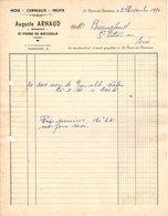 38  ST PIERRE DE BRESSIEUX Isère FACTURE 1950 NOIX CERNEAUX Fruits Auguste ARNAUD   A38 Saint - 1950 - ...