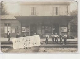 Ste-GENEVIEVE DES BOIS - PERRAY-VAUCLUSE  - La Gare ( Carte-photo ) En L'état Et Carte Peu Fréquente - Sainte Genevieve Des Bois