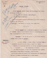 LOT #64 B.A. E.M.2  FFI JURA 1944 RESISTANCE LIBERATION LISTE PERSONNES SUSPECTES MILICE SS - 1939-45
