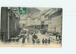 LA MURE - Rue Du Breuil Jour De Marché - Superbe Plan Animé - 2 Scans - La Mure