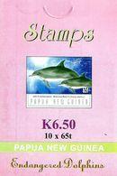 PAPUA NEW GUINEA DOLPHINS ANIMAL 65 TOEA BOOKLET OF 10 MINT 2003 SG? READ DESCRIPTION  !! - Papúa Nueva Guinea