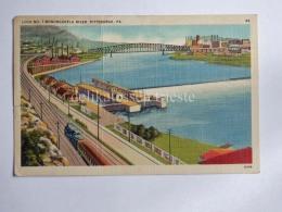 USA PITTSBURGH PA Monongahela River TRAIN Old Postcard - Pittsburgh