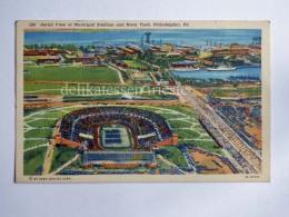 USA PHILADELPHIA PA Municipal Stadium Football Navy Yard Old Postcard - Philadelphia