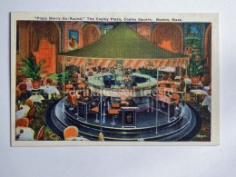 USA BOSTON Mass. Plaza Merry Go Round Copley Square Old Postcard - Boston
