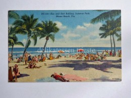 USA MIAMI BEACH Florida Lummus Park  Old Postcard - Miami Beach