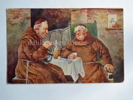 FRATI Frate Vecchia Cartolina Umoristica Anticlericale AK Old Postcard 1 - Humor