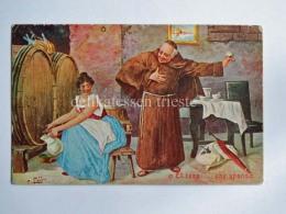 FRATI Frate Vecchia Cartolina Umoristica Anticlericale AK Old Postcard 3 - Humor