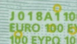 S ITALIA 100 EURO J018 A1 -  FIRST POSITION - TRICHET   UNC - EURO